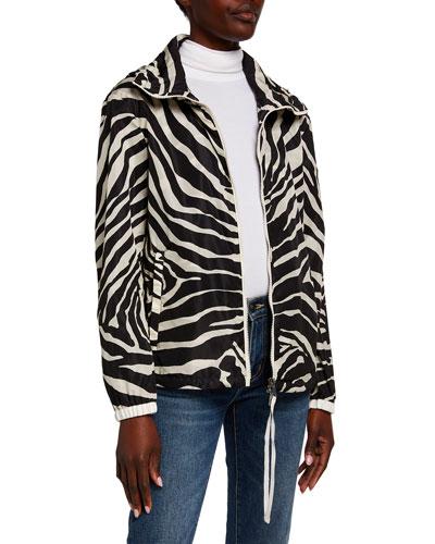 Pomme Zebra-Print Rain Jacket