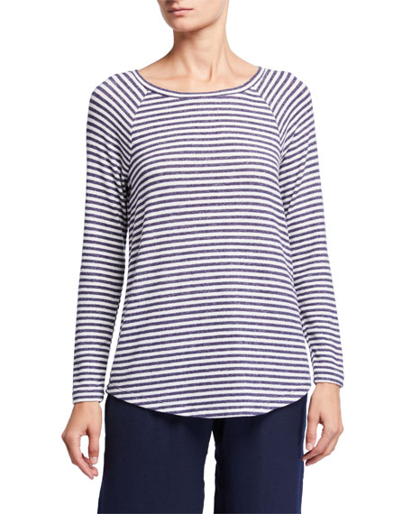 NIC+ZOE Relax In Striped Long-Sleeve Top