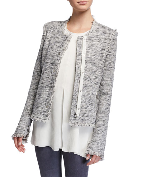 NIC+ZOE Plus Size You Deserve It Fringe Detail Jacket