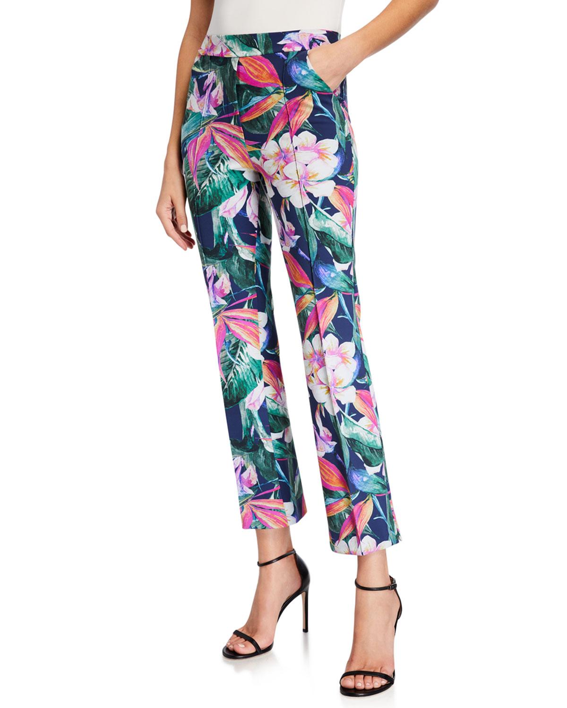 Chiara Boni La Petite Robe Nuccia Floral Straight-Leg Pants