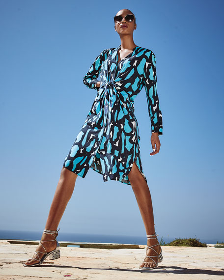 Image 2 of 3: NIC+ZOE Petite Vivid Giraffe Tie-Front Dress
