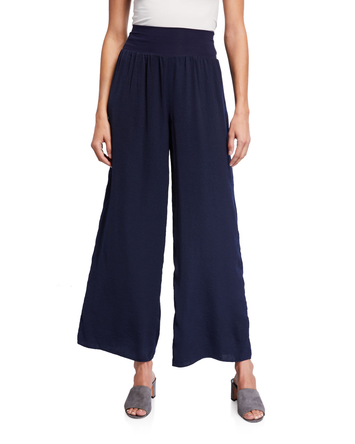 NIC+ZOE Plus Size Go With The Flow Wide Leg Pants