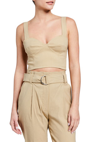 A.L.C. Alessandra Cropped Bustier Top