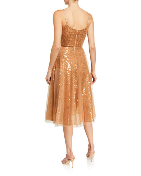 Dress The Population Edith Sweetheart Sequin Fit-&-Flare Dress