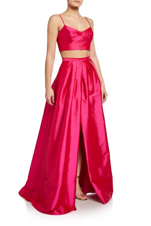 Aidan by Aidan Mattox 2-Piece Taffeta Ball Gown Set