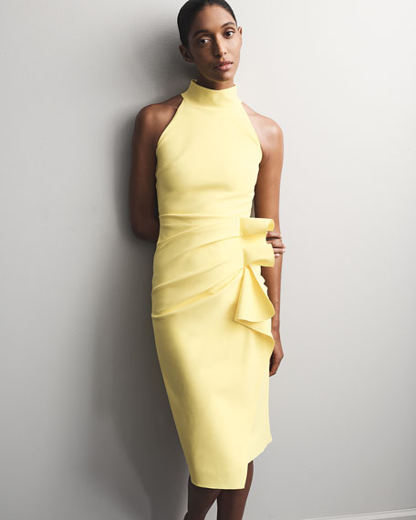 Chiara Boni La Petite Robe Sleeveless Halter Ruched Dress