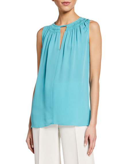 Image 1 of 2: Amina Sleeveless Blouse