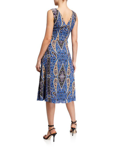 Image 3 of 3: Kobi Halperin Meri Paisley Sleeveless A-Line Dress