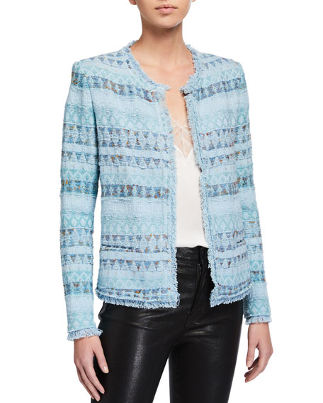 Image 1 of 2: Iro Louisa Open-Front Jacket