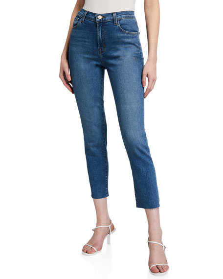 Image 1 of 3: J Brand Ruby High-Rise Crop Cigarette Jeans