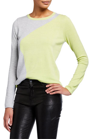 Lisa Todd Petite Color Pop Wave Two-Tone Lightweight Sweater