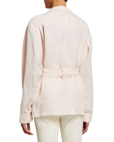 Image 3 of 3: Joie Sirena Button-Front Utility Jacket