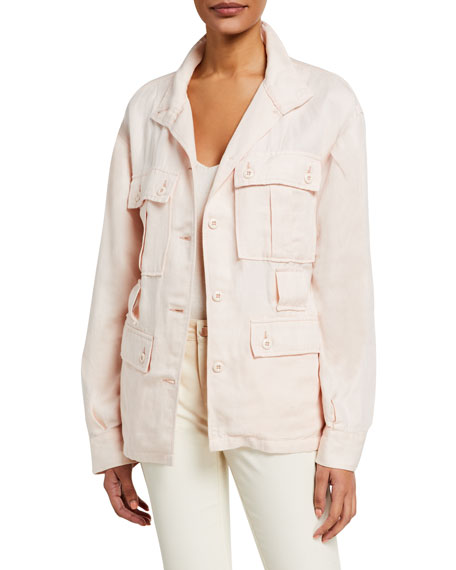 Image 1 of 3: Joie Sirena Button-Front Utility Jacket