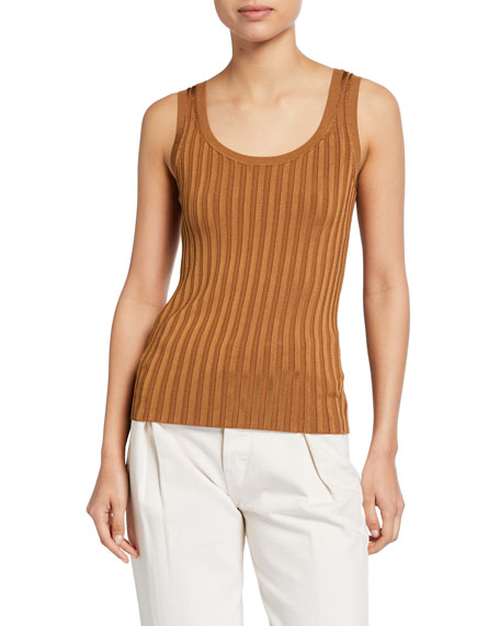 Veronica Beard Sandra Ribbed Tank