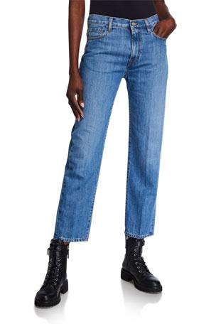 Moncler Slim Light Wash Denim Jeans