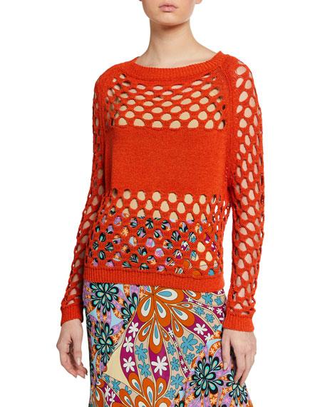 PINKO Brotola Open-Knit Sweater