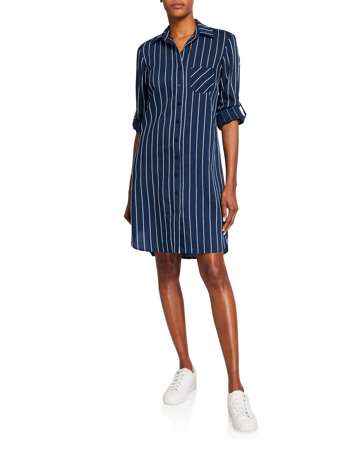 Finley Plus Size Alex Striped Shirtdress