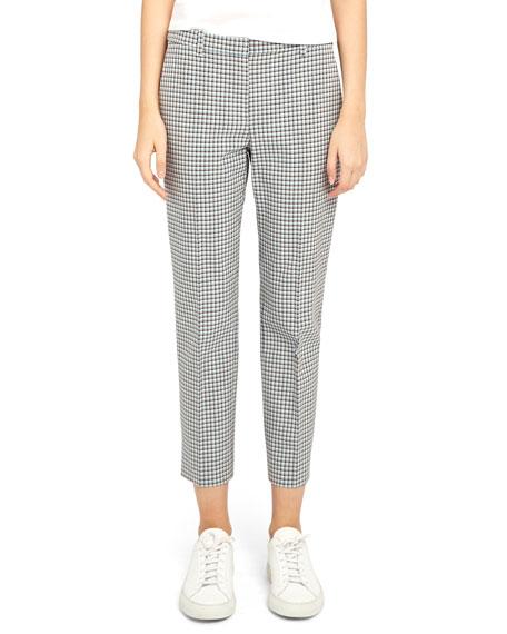 Theory Treeca 4 Grid Cropped Pants