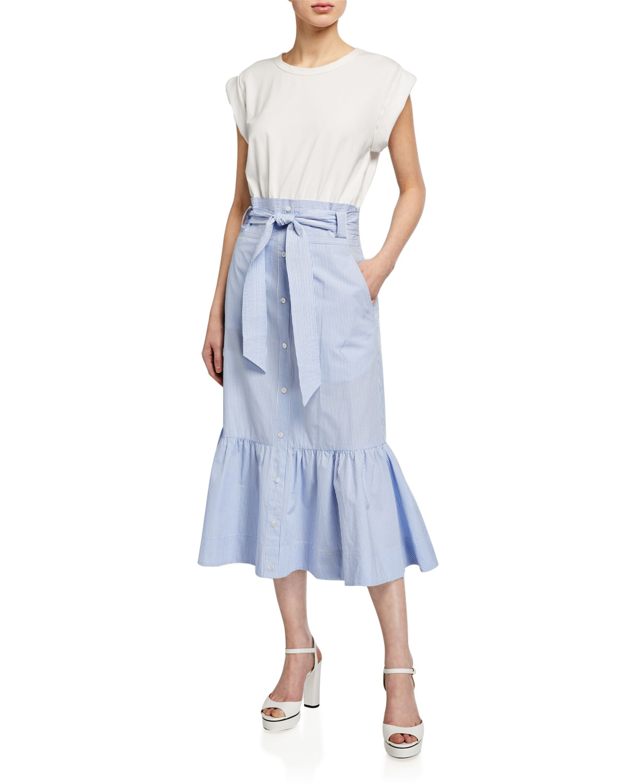 Veronica Beard Jeans Capri Combo Midi Dress