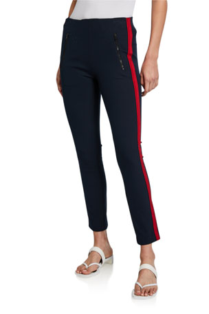 Rag & Bone Simone Side-Stripe Pants with Zip Pockets