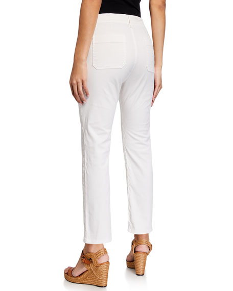 Image 2 of 3: Veronica Beard Jeans Lynne Mid Rise Cargo Pants