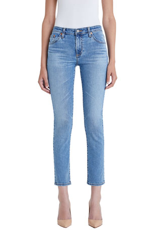 AG Adriano Goldschmied Prima Mid-Rise Ankle Skinny Jeans