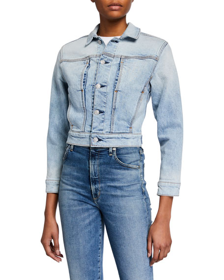 Image 2 of 3: 7 for all mankind Cotton-Cashmere Triple-Needle Denim Jacket