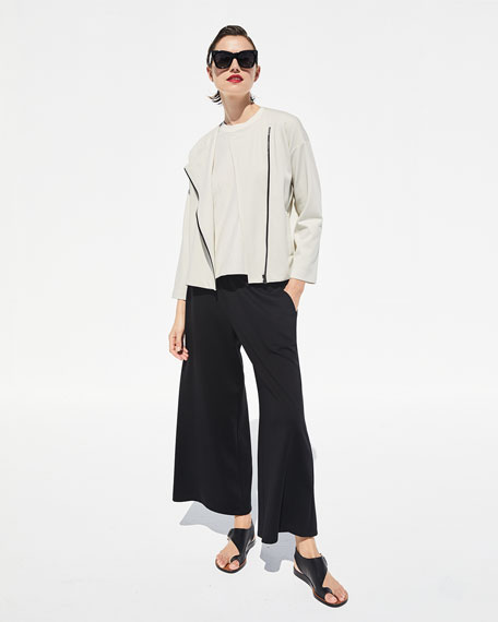 Image 2 of 4: Eileen Fisher Flex Lyocell Ponte Zip-Front Jacket