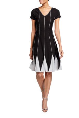 NIC+ZOE Petunia Petunia Short-Sleeve Twirl Dress