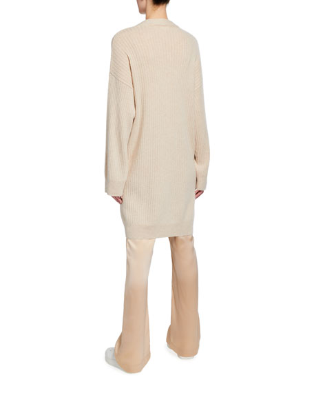 Image 3 of 3: Sablyn Two-Pocket Long Cashmere Cardigan