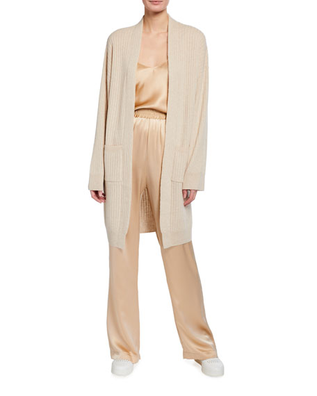 Image 1 of 3: Sablyn Two-Pocket Long Cashmere Cardigan