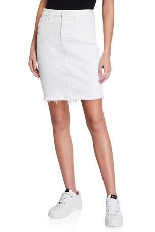 Womens Frayed Denim Skirt Ladies Split skirts NEW Size 8 10 12 14 Lemon Yellow