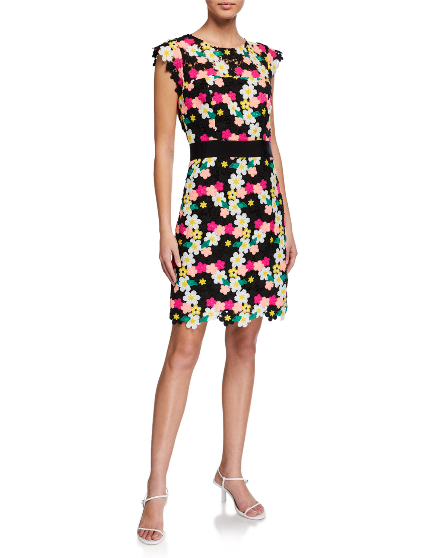 Milly Leila Floral Crochet Dress