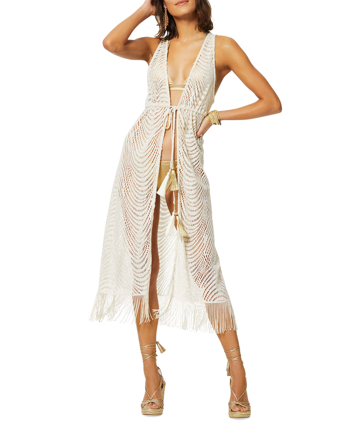 Ramy Brook Rhona Metallic Coverup