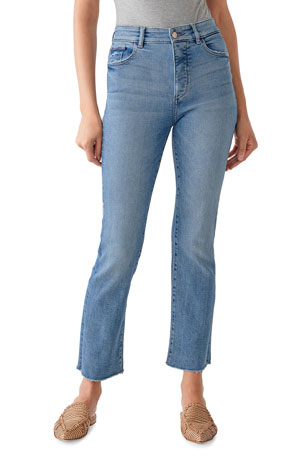DL1961 Premium Denim Mara Ankle High-Rise Straight Jeans