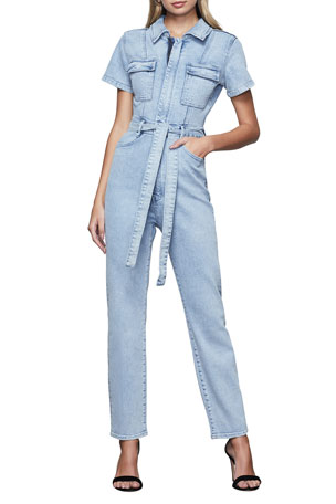 Good American The Fit For Success Denim Jumpsuit