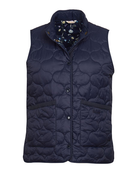 Image 5 of 5: Barbour Lola Quilted Snap-Front Gilet