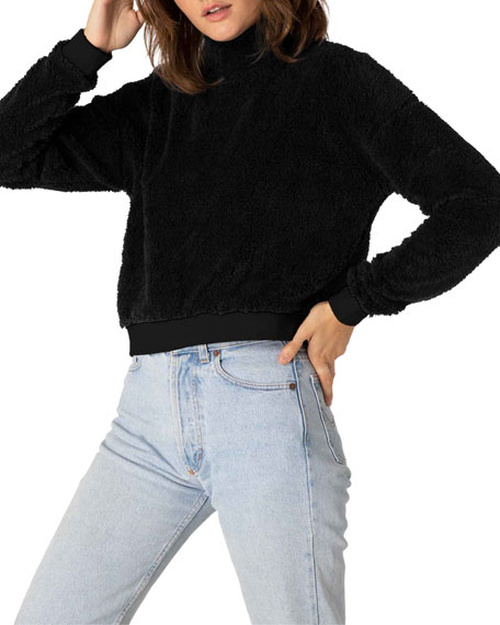 Image 4 of 4: Beyond Yoga Cropped Sherpa Pullover