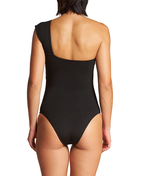 Image 3 of 3: LeSwim Caliope One-Shoulder One-Piece Swimsuit