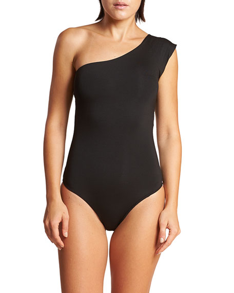 Image 1 of 3: LeSwim Caliope One-Shoulder One-Piece Swimsuit
