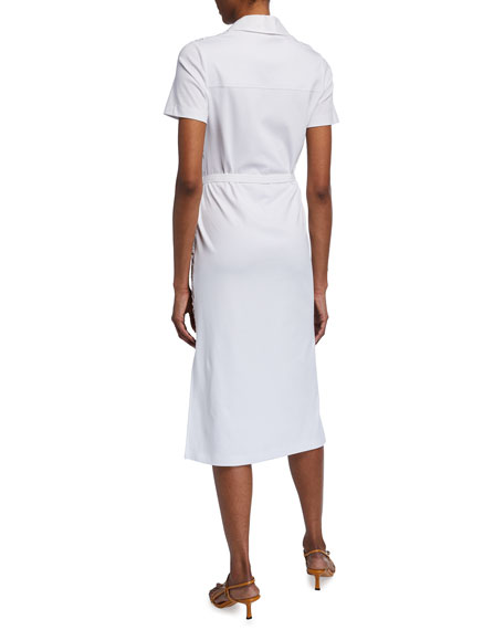 Image 2 of 3: Tory Burch Lace Front Short-Sleeve Poplin Polo Dress