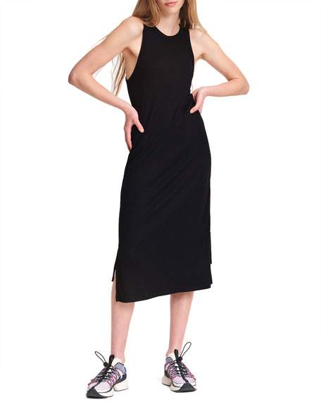 Image 1 of 4: Rag & Bone The Knit Rib Zip Midi Dress