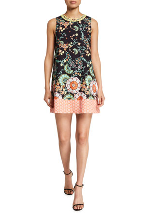 Alice + Olivia Keaton Crewneck Shift Dress