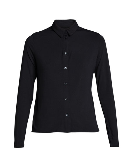 Image 5 of 5: Majestic Filatures Soft Touch Boxy Button-Down Shirt