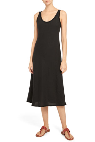 Theory Spring Linen Scoop-Neck Tank Dress