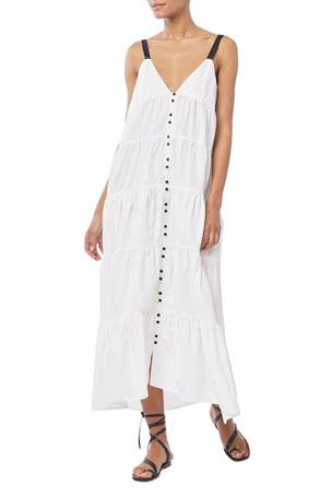 FRAME Tiered Utility Maxi Dress