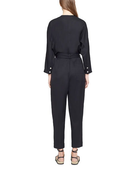 Image 2 of 3: 3.1 Phillip Lim Wool Menswear Belted Jumpsuit