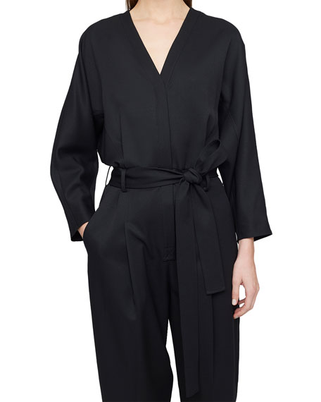 Image 3 of 3: 3.1 Phillip Lim Wool Menswear Belted Jumpsuit