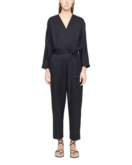Image 1 of 3: 3.1 Phillip Lim Wool Menswear Belted Jumpsuit