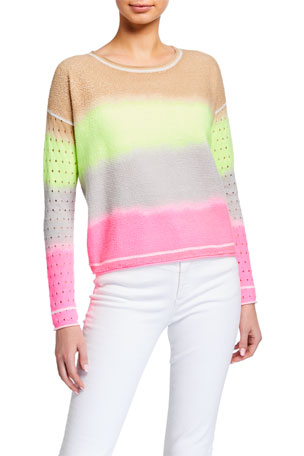 Lisa Todd Double Dip Tie Dye Long-Sleeve Cotton Sweater